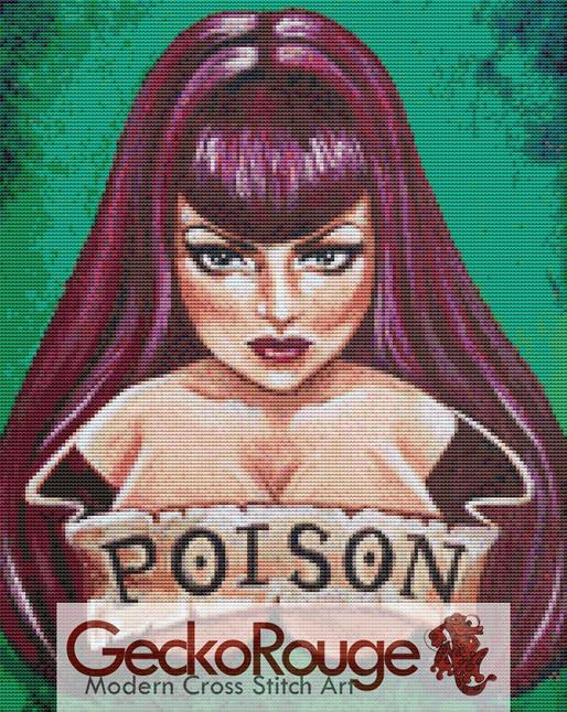 Poison by Megan Mars Cross Stitch Kit (MMPOSN)