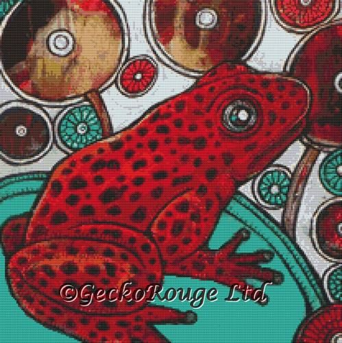 Poison Frog By Lynnette Shelley Cross Stitch Kit