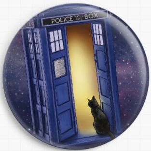 Police Box by Jenny Parks Licensed Art Needle Minder