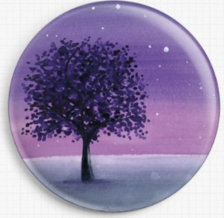 Purple Night Sky By Emily Luella Licensed Art Needle Minder