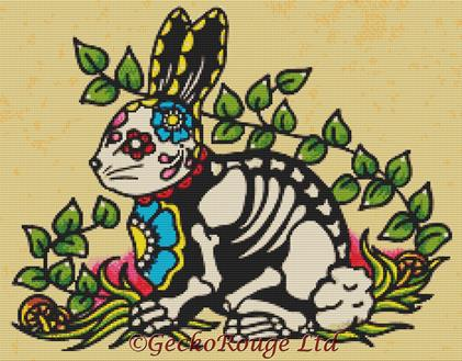 Rabbit By Illustrated Ink Cross Stitch Kit