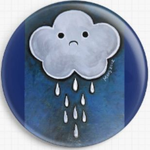 Rain Cloud By Megan Mars Licensed Art Needle Minder
