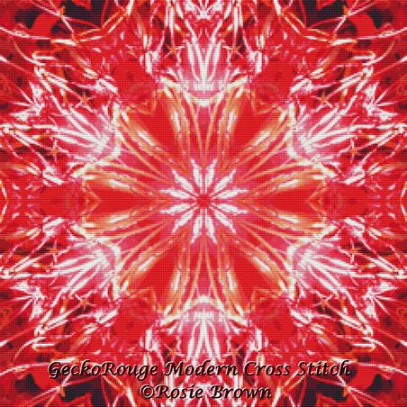 Red Kaleidoscope By Rosie Brown Cross Stitch Kit