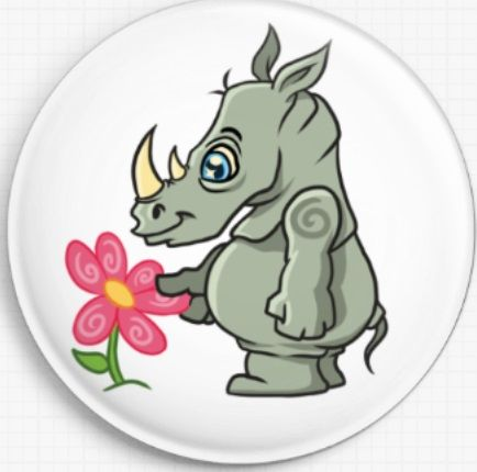 Rhino Swirlies Worlld Needle Minder
