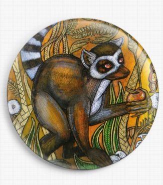 Ring Tailed Lemur By Lynnette Shelley Licensed Art Needle Minder