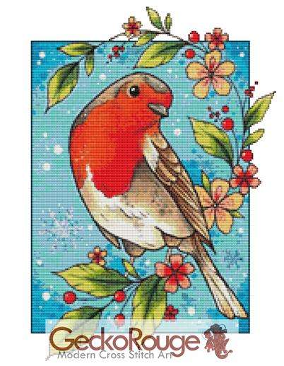 Robin By Lorna Laine Art Counted Cross Stitch Kit (LRLRBN)