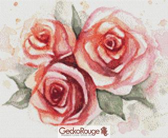 Roses 2  By Emily Luella Cross Stitch Kit (ELRSS2)