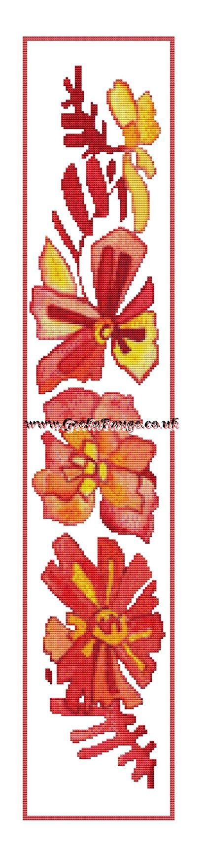 Runner 1 by Pamela Muller Cross Stitch Kit - Flowers