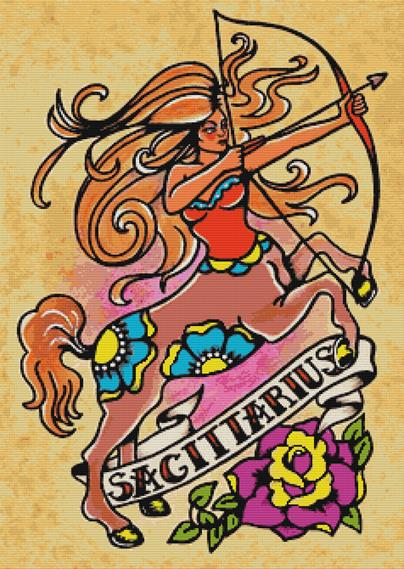 Sagittarius By Illustrated Ink Cross Stitch Kit (ILSAG)