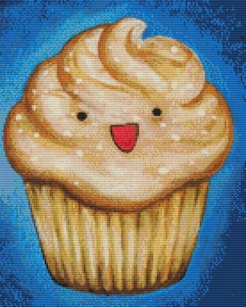 Salted Caramel Cupcake By Megan Mars Cross Stitch Kit