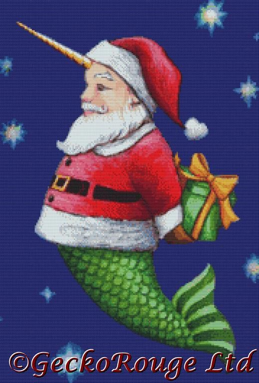 Santa 1 By Eya Claire Floyd Cross Stitch Kit ECFSANT1