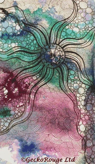Sea Life Abstraction By Pamela Varacek Cross Stitch Kit (PVSALF)