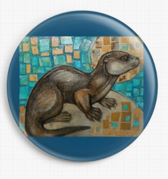 Sea Otter By Lynnette Shelley Licensed Art Needle Minder