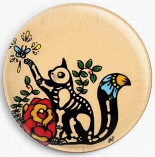 Skeleton Cat By Illustrated Ink Licensed Art Needle Minder