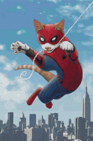 Spider Cat 2 By Jenny Parks Cross Stitch Kit ( JPKSPCT2)