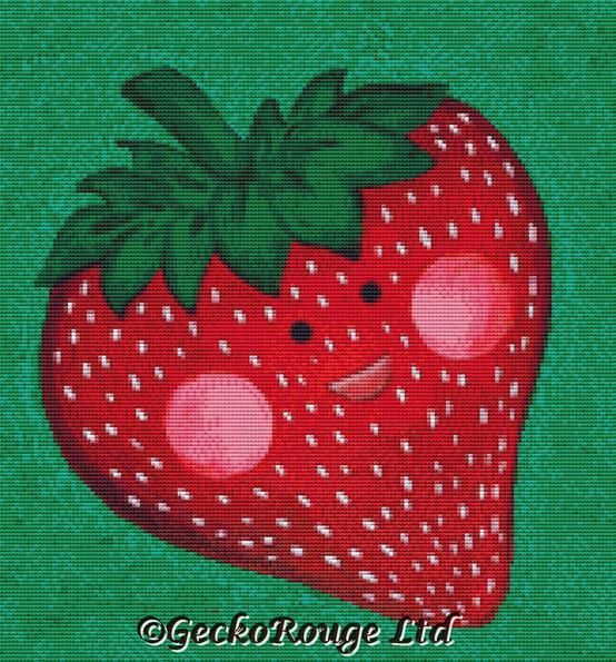 Strawberry By Megan Mars Cross Stitch Kit