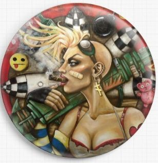 Tank Girl By Megan Mars Licensed Art Needle Minder