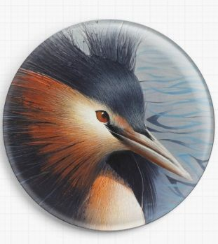 The Great Crested Grebe By David Finney Licensed Art Needle Minder