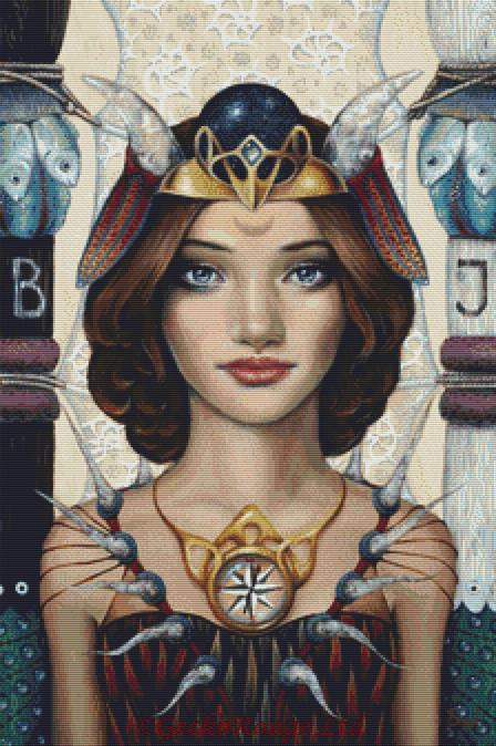 The High Priestess By Tanya Bond Cross Stitch Kit