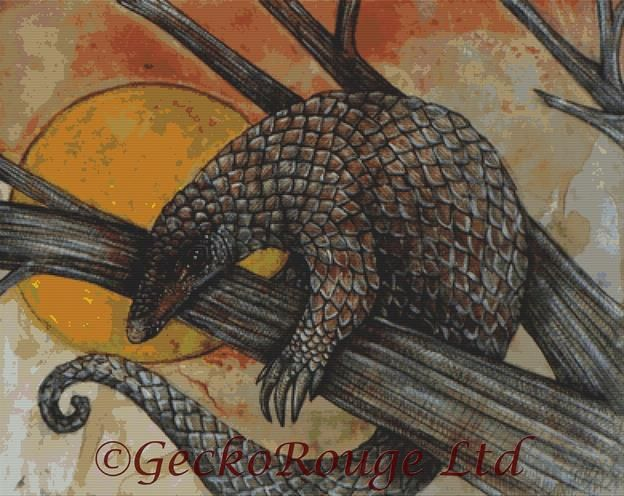 The Pangolin By Lynnette Shelley Cross Stitch Kit (LSPANGL)