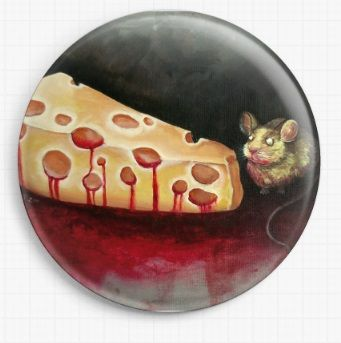 The Reward Is Cheese By Megan Mars Licensed Art Needle Minder