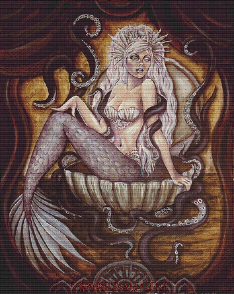The Siren By Megan Mars Cross Stitch Kit