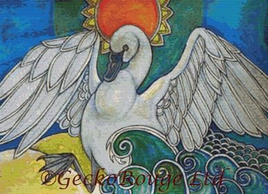 The Swan Totem By Lynnette Shelley Cross Stitch Kit (LSSWNTTM)