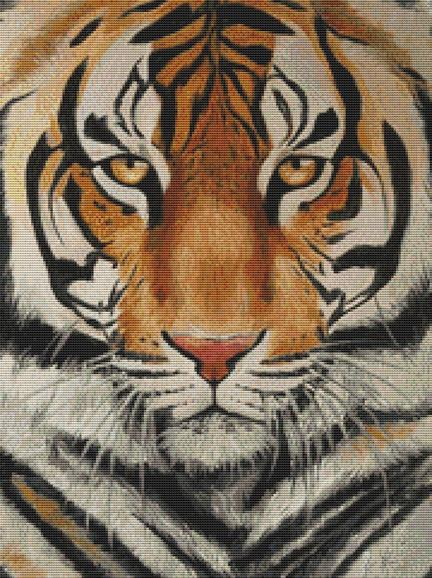 Tiger By Emily Luella Cross Stitch Kit