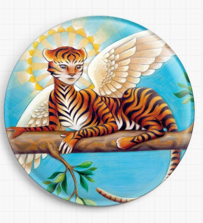 Tiger By Eya Claire Floyd Licensed Art Needle Minder