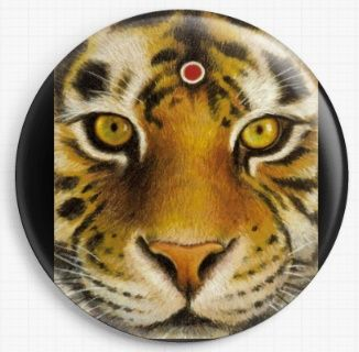 Tiger By Tanya Bond Licensed Art Needle Minder