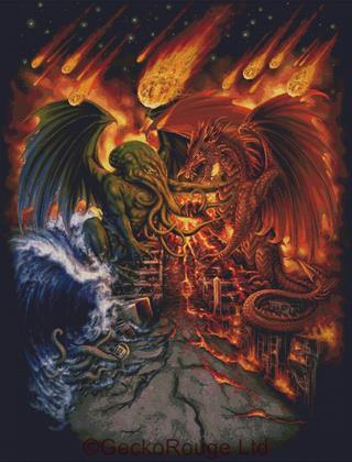 Titans Apocalypse By SheBlackDragon Cross Stitch Kit
