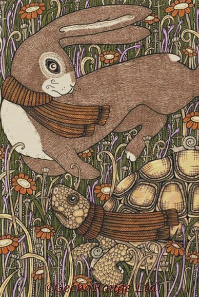 Tortoise and the Hare By Anita Inverarity Cross Stitch Kit (AIVTRHR)
