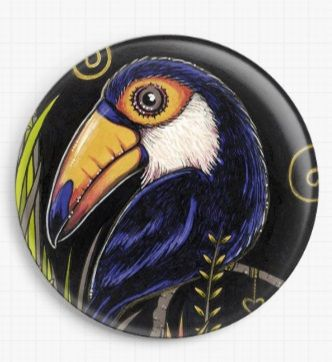 Toucan By Anita Inverarity Licensed Art Needle Minder