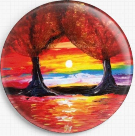 Tree Sunset 2 By Jessilyn Park Needle Minder