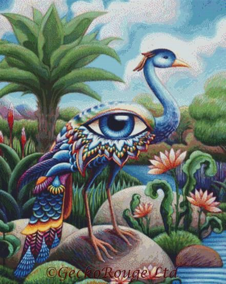 Tropical Eya Bird Cross Stitch Kit By Eya Claire Floyd