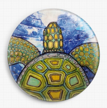 Turtle By Lynnette Shelley Licensed Art Needle Minder