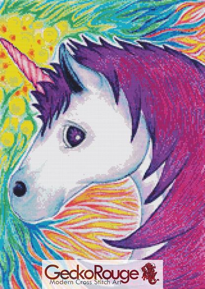 Unicorn By Angel Kitten Art Cross Stitch Kit (AKUNIRN)