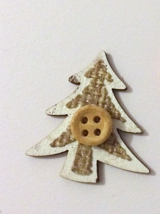 White Christmas Tree - Wooden Needle Minder