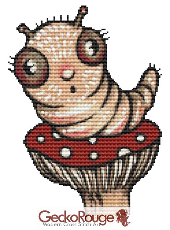 Wiggles By Anita Inverarity Cross Stitch Kit  - LIMITED RUN