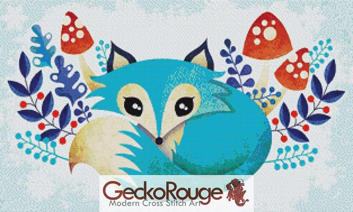 Winter Fox by Sandra Vargas Cross Stitch Kit (SVFXLY)
