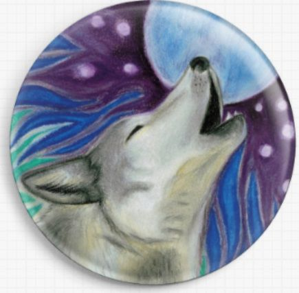 Wolf By Angel Kitten Art Licensed Art Needle Minder