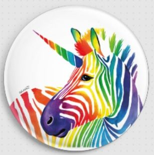 Zebracorn By Carissa Rose Needle Minder Magnet (CRZBR)