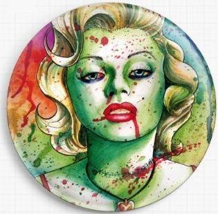 Zombie Marilyn By Carissa Rose Needle Minder